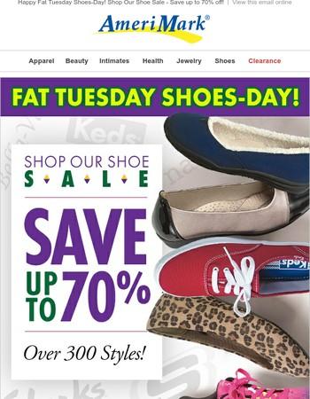 Happy Fat Tuesday Shoes Day! Shop our Shoe Sale!
