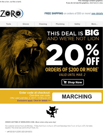 Oh nice! 2-Days only: March savings are here!