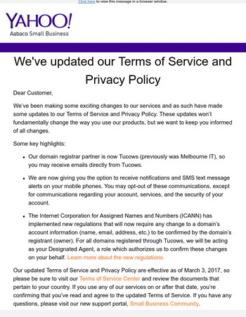 We've updated our Terms of Service and Privacy Policy