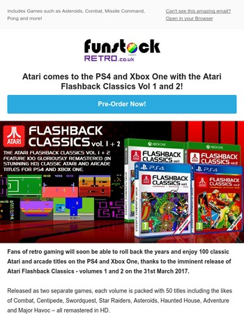 Pre-Order! Atari Classics on Xbox One and PS4