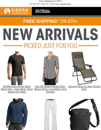 Must-See New Arrivals + Free Shipping