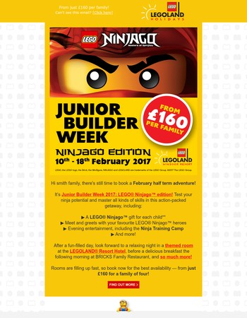 Junior Builder Week returns this February half term!