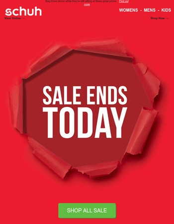 It's your last chance - SALE ENDS TODAY