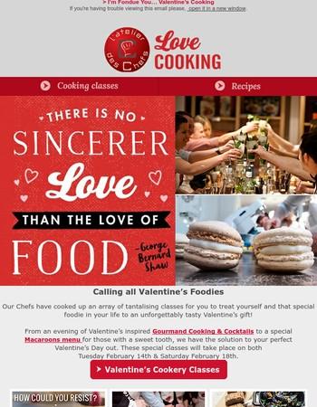 I'm Fondue You… Valentine's Cooking