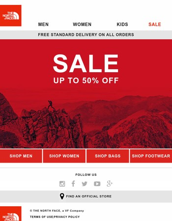 Latest The North Face Newsletter