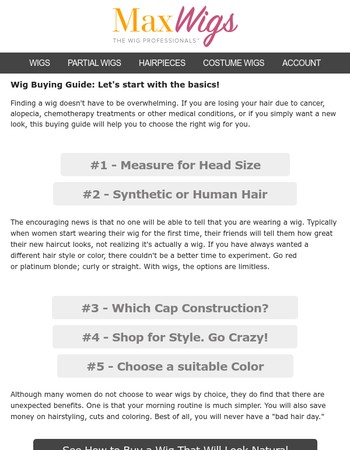 The Ultimate Wig Buyer's Guide...Everything you should know beforehand