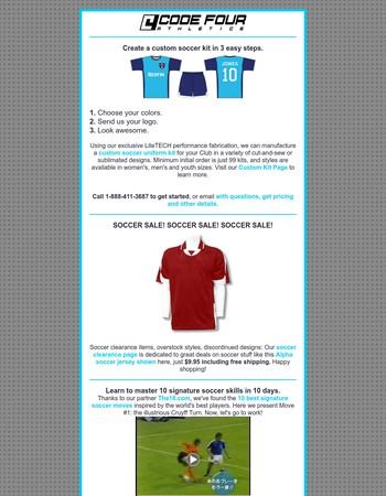 Soccer Clearance - Custom Kits - Signature Moves