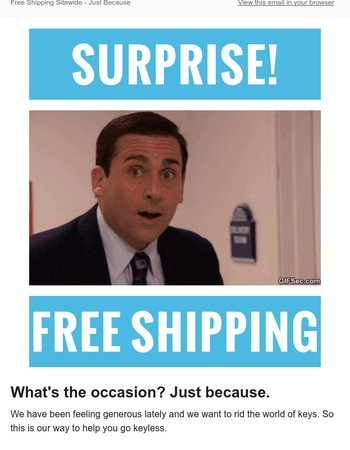 GoKeyless: Free Shipping Sitewide - Just Because