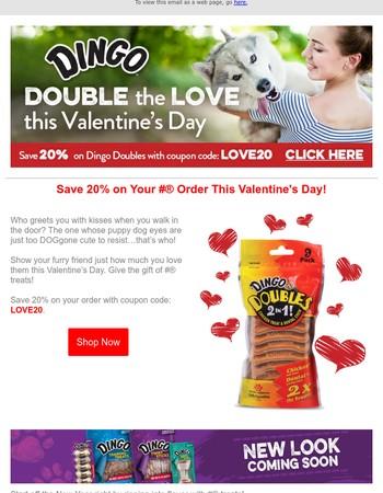 Save 20% on Dingo This Valentine's Day!