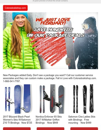 Save hundreds with a New Ski package