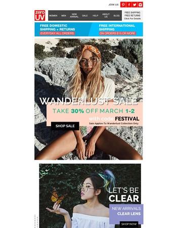 Festival Season - Extra 30% Off Inspirational Wanderlust Sunglasses