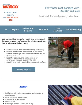 Damp Proof and Roofing Maintenance with Watco