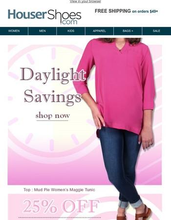 Daylight Savings 25% OFF