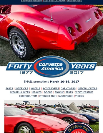 10% OFF plus $10 Shipping; Corvette Dashpads; New Parts