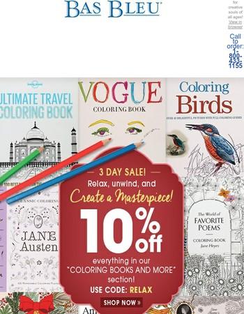 Coloring Book Sale!