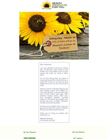 HPFY Stores Newsletter