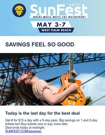 Last day for big savings