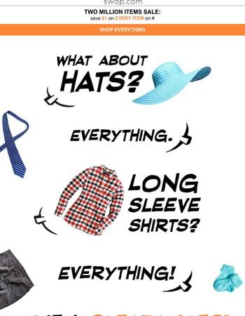$1 Off EVERYTHING- Celebrate 2 Million Items on Swap.com!