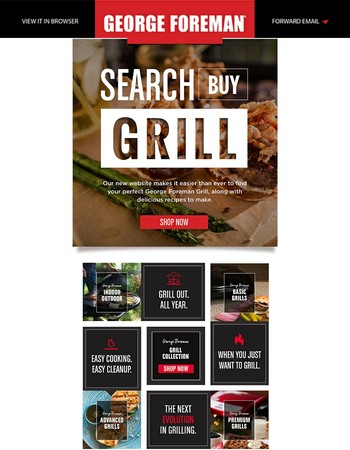 The All-New George Foreman Grills Website