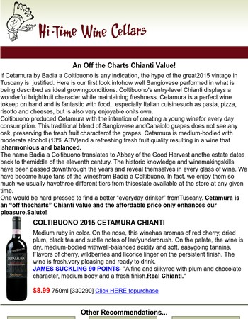 An Off the Charts Chianti Value