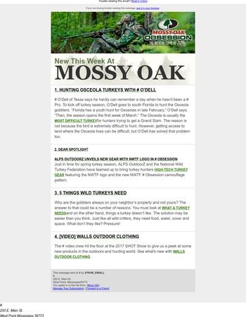 What's New at MossyOak.com - Osceolas + ALPS OutdoorZ + Walls Clothing