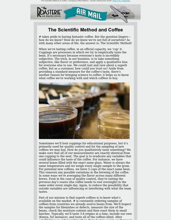The Scientific Method of Coffee