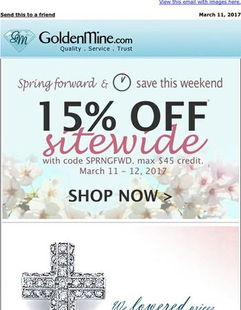 Spring Forward & SAVE THIS WEEKEND