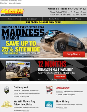 4 Wheel Parts Newsletter