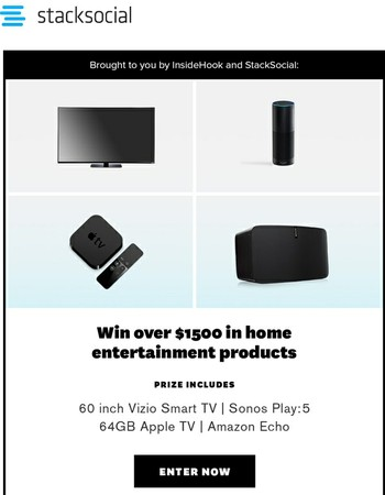 Don't Miss Your Chance to Win Over $1500 in Electronics!