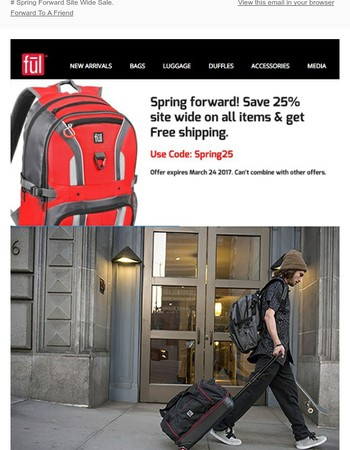 Ful Bags Spring Forward Save 25% Site Wide