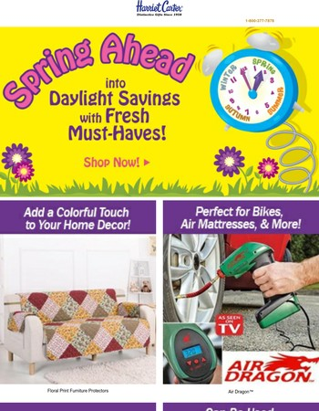 SHOP Our Seasonal Must-Haves & Jump Into Daylight Savings!