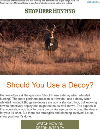 The question is should you use a decoy? We say why not!
