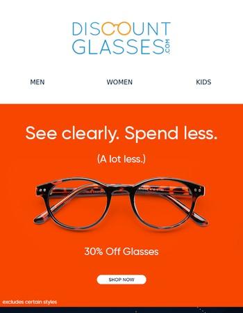 Spring Ahead With 30% Savings On Eyewear