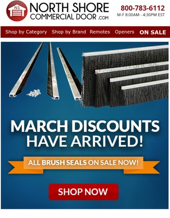 March Discounts Are Finally Here!