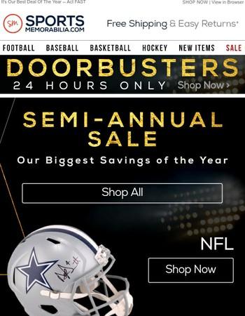 24 Hours Only! Doorbuster Deals Across All Leagues