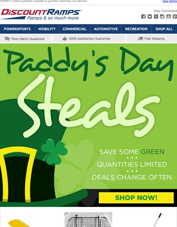 Paddy's Day Deals Are Here!