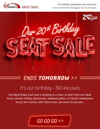 £4 birthday fares. Going… going…