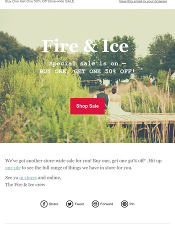 Fire & Ice Newsletter