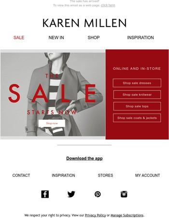 It's sale time...