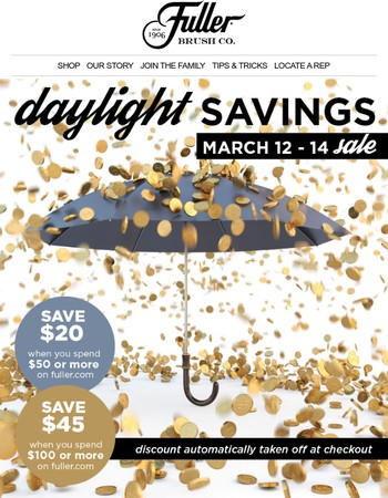 LAST DAY for savings! Save $20 when you spend $50 plus more!