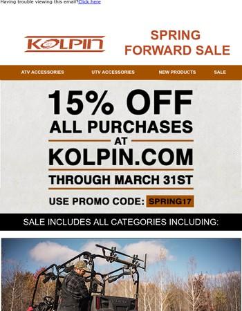 15% OFF KOLPIN - SPRING FORWARD SALE