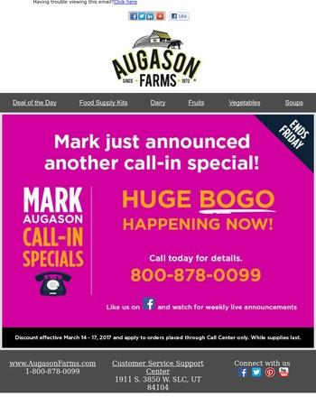 Mark Augason Call-In Special