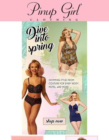 Make a splash with Pinup Girl swimwear