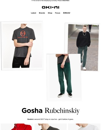 Gosha Rubchinskiy: the second drop is here!
