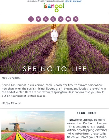 Spring Has Sprung! | 8 Destinations to Visit This Season