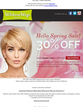 Wilshire Wigs Newsletter