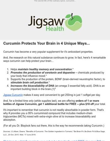 4 Ways Curcumin Protects Your Brain...