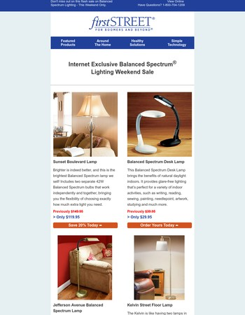 Internet Exclusive  Balanced Spectrum Lighting Weekend Sale