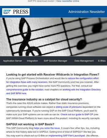 Five SAP Basis tips. Plus, SAP PO integration and HCP security.