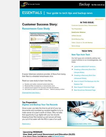NovaStor |  Your Guide to Tech Tips and Backup News